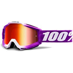 100% Accuri Anti Fog Mirror Goggles violet